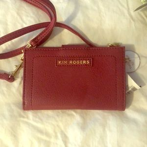 Red wristlet wallet